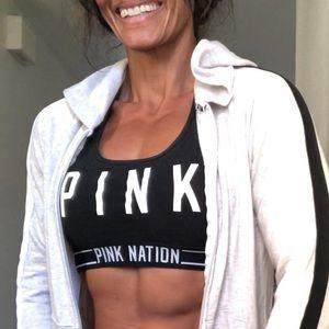 Pink size L sports bra